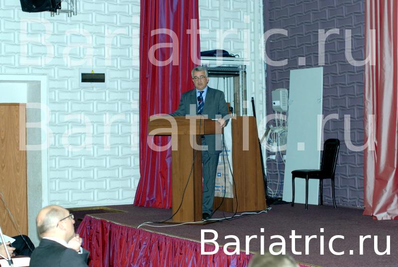 Валерий Николаевич Егиев, ведущий специалист направления бариатрической хирургии в РоссииШестой Российский симпозиум, Общества бариатрических хирургов «Хирургическое лечение ожирения и метаболических нарушений» : бандажирование желудка